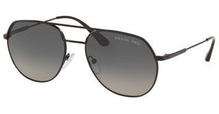 Prada PR 55US 1BO5W1 POLAR GREY GRADIENTMATTE BLACK