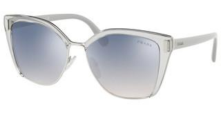 Prada PR 56TS 73E5R0 GRAD LIGHT BLUE MIRROR SILVERTRANSPARENT GREY/SILVER
