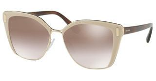 Prada PR 56TS VHR4O0 GRADIENT BROWN MIRROR SILVERLIGHT BROWN/PALE GOLD
