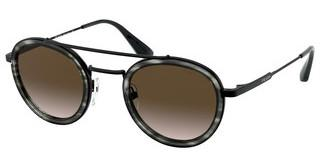 Prada PR 56XS 05A1X1 BROWN GRADIENTSTRIPPED GREY/GUNMETAL
