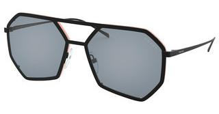 Prada PR 62XS 1BO04B LIGHT BLUE MIRROR SILVER INTMATTE BLACK