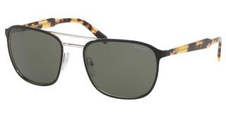 Prada PR 75VS 5240B2 GREENTOP MATTE BLACK ON SILVER