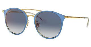 Ray-Ban Junior RJ9545S 273/X0 BLUE MIRROR REDGOLD ON TOP LIGHT BLUE