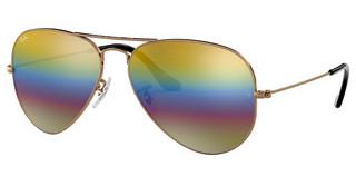 Ray-Ban RB3025 9020C4 LIGHT GREY MIRROR RAINBOW 3METALLIC LIGHT BRONZE
