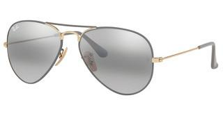 Ray-Ban RB3025 9154AH GREY BI-MIRROR GREYGOLD ON TOP MATTE GREY