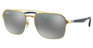 Ray-Ban RB3570 001/88 GREY MIRROR SILVER GRADIENTGOLD