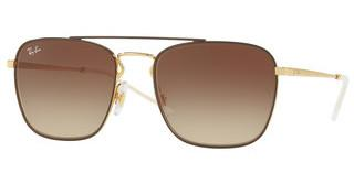 Ray-Ban RB3588 905513 BROWN GRADIENT DARK BROWNGOLD TOP ON BROWN
