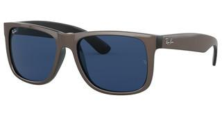 Ray-Ban RB4165 647080 DARK BLUEBROWN METALLIC ON BLACK