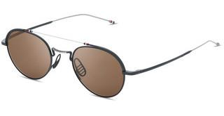 Thom Browne TBS912 03 Dark Brown - ARBlack Iron - Silver