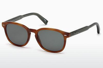Solbriller Ermenegildo Zegna EZ0005 53N - Havanna, Yellow, Blond, Brown