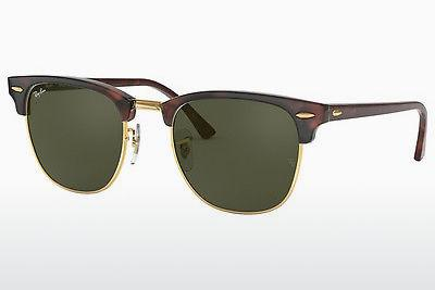 Solbriller Ray-Ban CLUBMASTER (RB3016 W0366) - Sort, Brun, Havanna