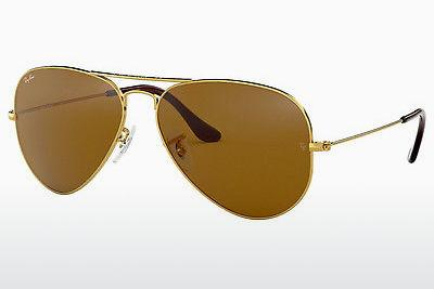 Solbriller Ray-Ban AVIATOR LARGE METAL (RB3025 001/33) - Guld