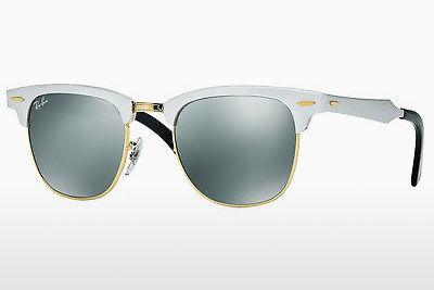 Solbriller Ray-Ban CLUBMASTER ALUMINUM (RB3507 137/40) - Hvid