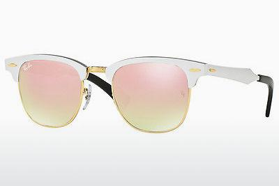 Solbriller Ray-Ban CLUBMASTER ALUMINUM (RB3507 137/7O) - Hvid