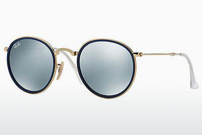 Solbriller Ray-Ban ROUND (RB3517 001/30) - Guld
