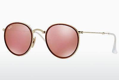 Solbriller Ray-Ban ROUND (RB3517 001/Z2) - Guld