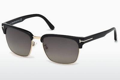 Solbriller Tom Ford River (FT0367 01D) - Sort, Shiny