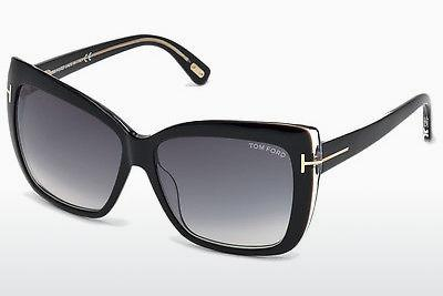 Solbriller Tom Ford Irina (FT0390 01B) - Sort, Shiny