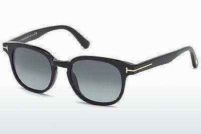 Solbriller Tom Ford Frank (FT0399 01N) - Sort, Shiny