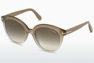 Solbriller Tom Ford Monica (FT0429 59B) - Horn, Beige, Brown
