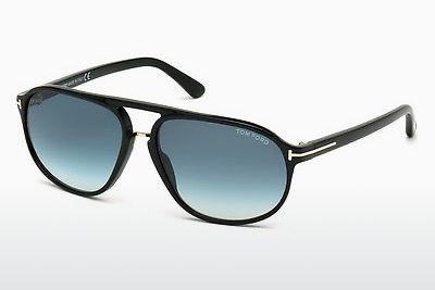 Solbriller Tom Ford Jacob (FT0447 01P) - Sort, Shiny