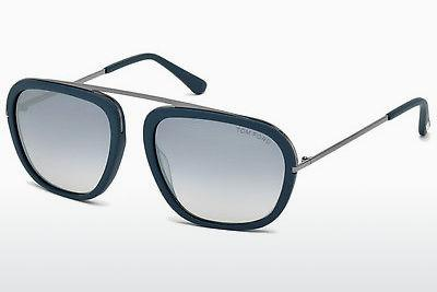 Solbriller Tom Ford Johnson (FT0453 88C) - Blå, Turquoise, Matt