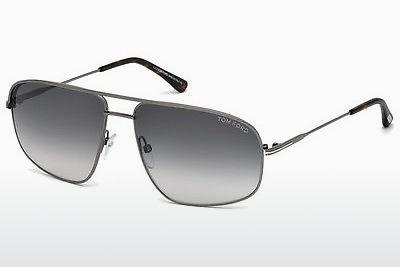 Solbriller Tom Ford Justin Navigator (FT0467 13B) - Grå, Dark, Matt