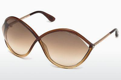 Solbriller Tom Ford Liora (FT0528 50F) - Brun, Dark