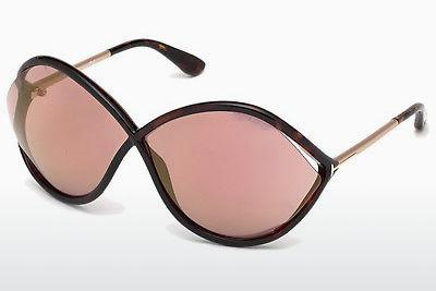 Solbriller Tom Ford Liora (FT0528 52Z) - Brun, Dark, Havana