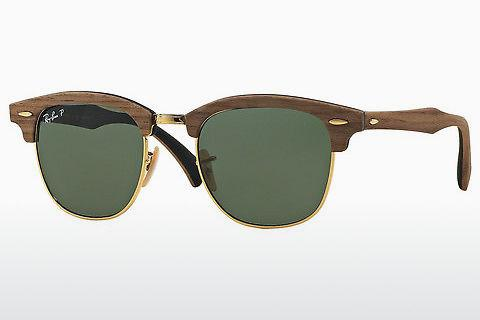 Solbriller Ray-Ban Clubmaster Wood (RB3016M 118158)