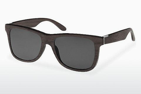 Solbriller Wood Fellas Prinzregenten (10755 black oak/grey)